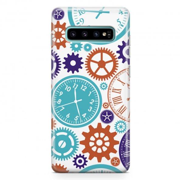 Samsung Galaxy S10 Kılıf Silikon Arka Koruma Kapak Saatler Desenl