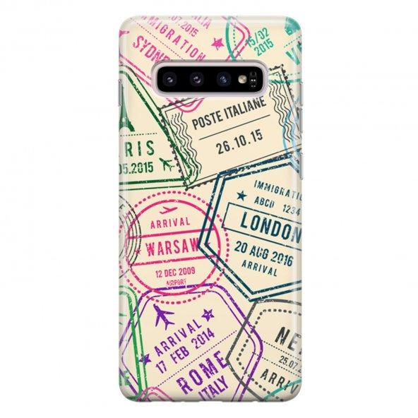 Samsung Galaxy S10 Plus Kılıf Silikon Arka Koruma Kapak Pasaport
