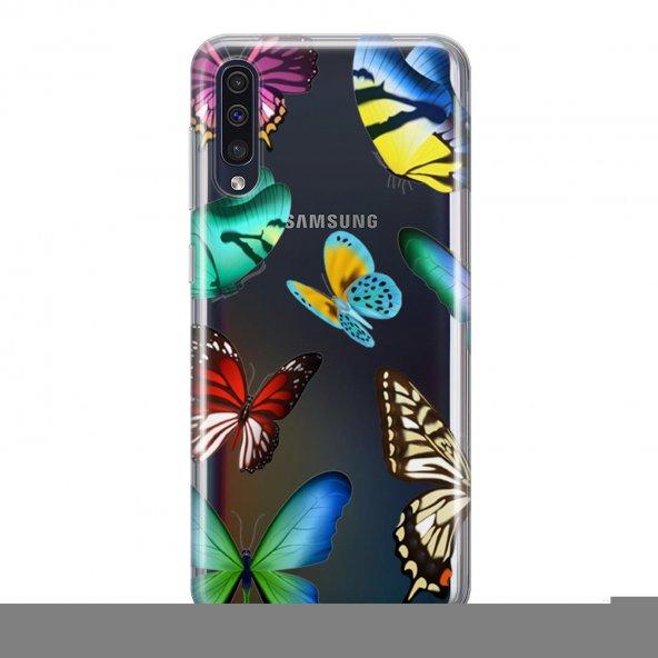 Samsung Galaxy A50 Kılıf Silikon Arka Koruma Kapak Sihirli Kelebe