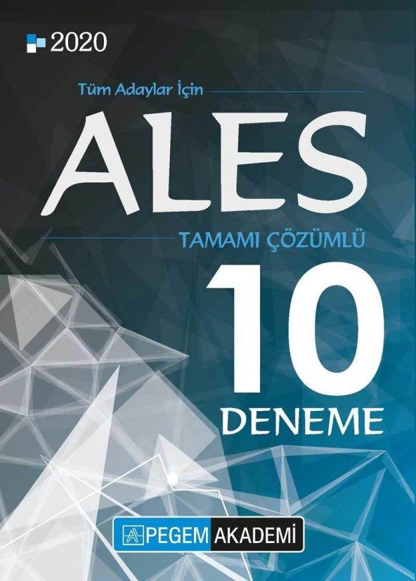 Pegem 2020 ALES Tamamı Çözümlü 10 Deneme Pegem Akademi Yayınları