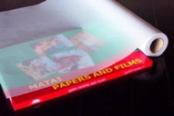 914mmx30mt İnkjet 100 Micron Su Bazlı Polyester Film Kağıdı