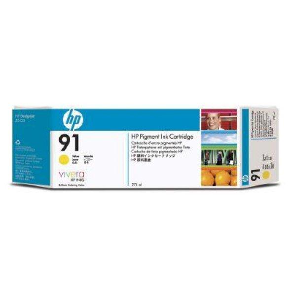 Hp 91 Kartuş , Hp C9585A inkjet sarı, 775ml 3lu paket