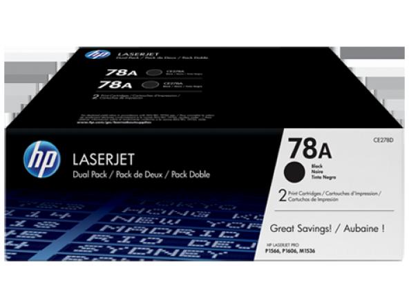 HP 78A 2li Paket Siyah Orijinal LaserJet Toner Kartuşlar CE278AD