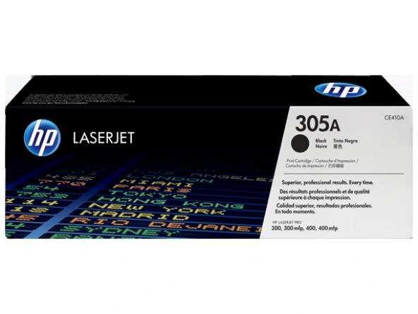 HP 305A Siyah Orijinal LaserJet Toner Kartuşu (CE410A)