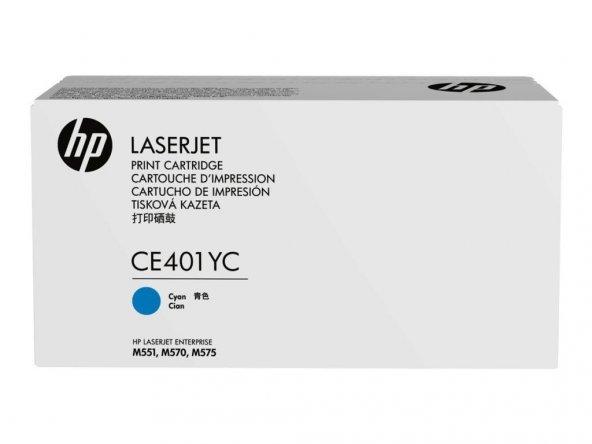 HP CE401YC Lazer Kartuş