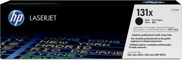 HP 131X (CF210X) Black High Yield Original LaserJet Toner Cartrid