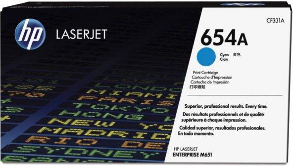 HP 654A (CF331A) Cyan Original LaserJet Toner Cartridge