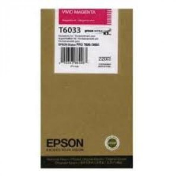 EPSON T6033 KIRMIZI ORJİNAL KARTUŞ Pro 7800 / 7900 / 9800 / 9900