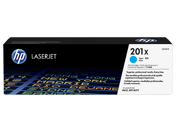 HP 201X High Yield Cyan Original LaserJet Toner Cartridge (CF401X