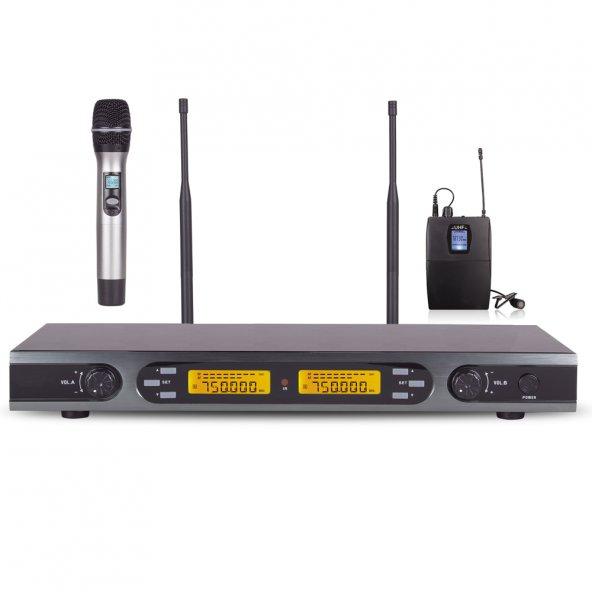 1EL 1Yaka Uhf 99 Kanal Telsiz Mikrofon Alfon ATM-U2000