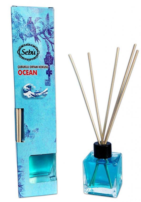 Okyanus - Bambu Çubuklu Egzotik Kare Şişe Ortam Kokusu 50ml