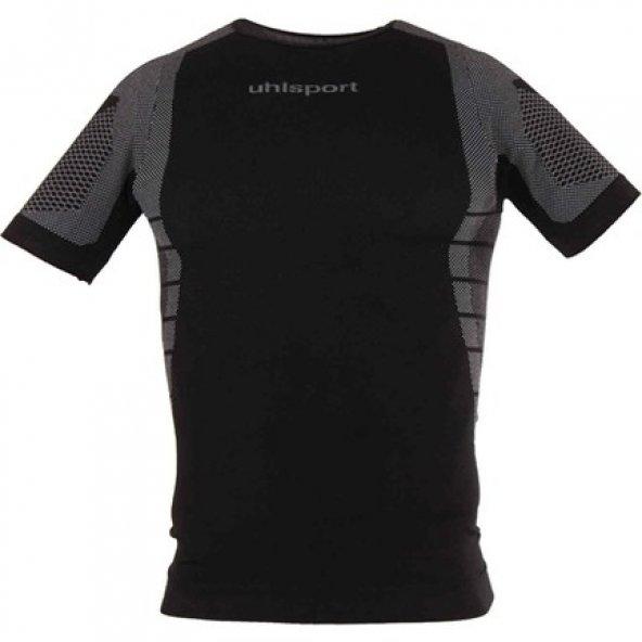 Uhlsport 1101704 Erkek Body Pro Kısa Kol Siyah - Gri
