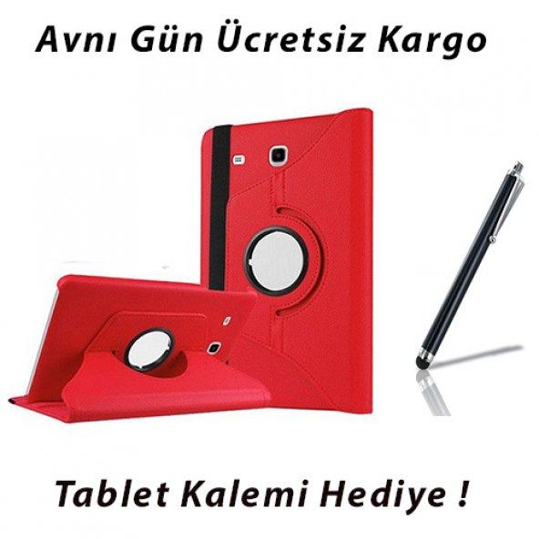 Samsung Galaxy Tab E T560 KIRMIZI Tablet Kılıf (Kalem Hediyeli)