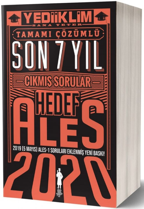 Yediiklim Yayınları 2020 Ales Son 7 Yıl Tamamı Çözümlü Çıkmış Sorular(5 Mayıs Ales-1 ekli)