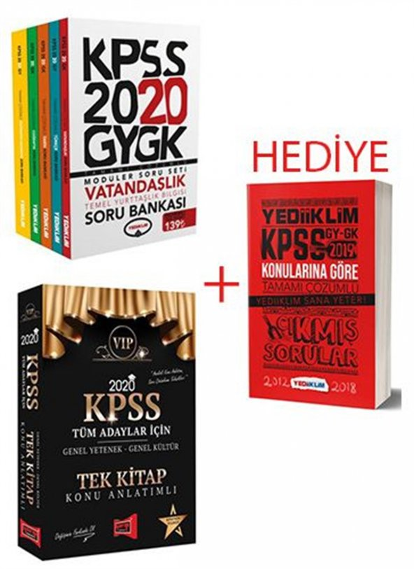 Yediiklim Yayınları 2020 Gk-Gy Modüler Soru-Yargı 2020 Tek Kitap Konu+HEDİYE Gk-Gy Çıkmış Sorular