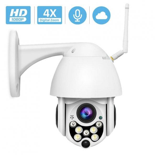 IP Güvenlik Kamerası Gece Görüşlü Dış Mekan PTZ 1080p Speed Dome