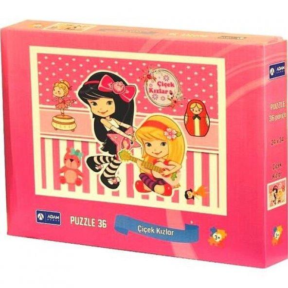 Puzzle 36 Parça Çiçek Kızlar Adam Games 24*34 cm