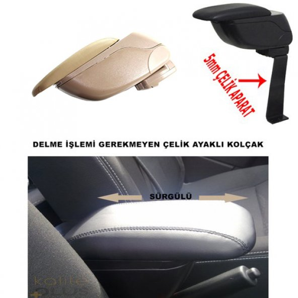 Fiat Linea 2007 Model Kolçak Kol Dayama Delme Yok KalitePlus Bej