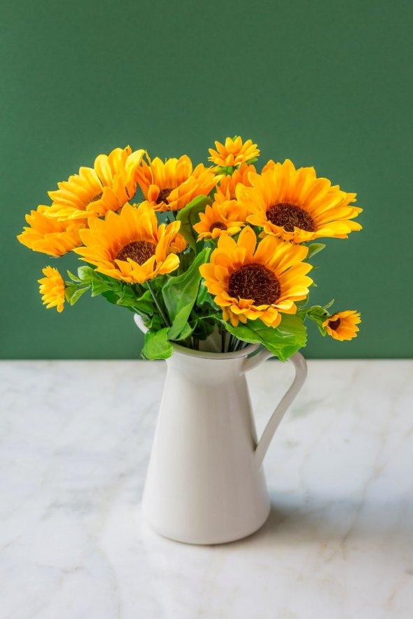 2 li Sun Flower Yapay Çiçek