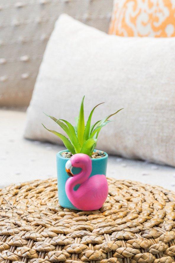 Flamingolu Sukulent Vazo (1)