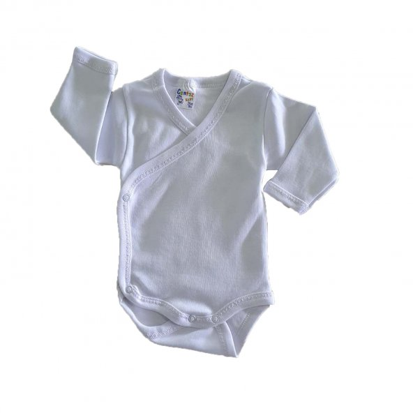Kız-Erkek Bebek Uzun Kol Düz Renk 3-9 Ay Zıbın - C72342