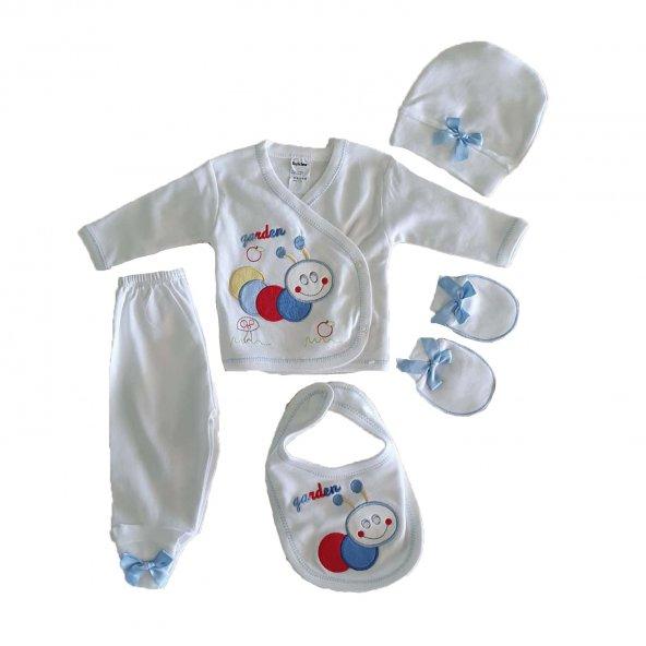 Kız-Erkek Bebek Yenidoğan Zıbın Seti - C72979