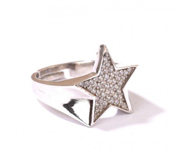 925 Ayar Gümüş Yıldız Tasarım Yüzük