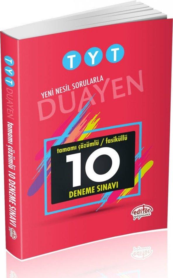 Editör Yayınları TYT Duayen Çözümlü 10 Fasikül Deneme Sınavı