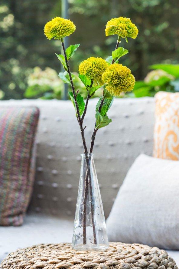 2li Voluptatem Sarı Yapay Çiçek