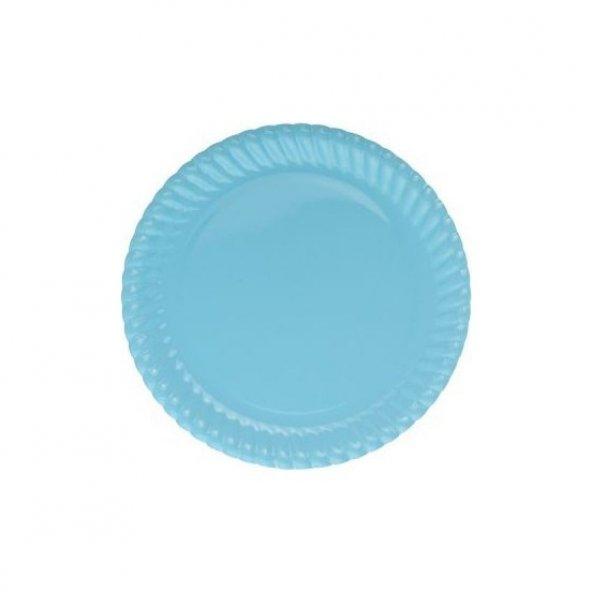 Roll-Up Party Dreams Açık Mavi Karton Tabak 23 cm 8 Adet