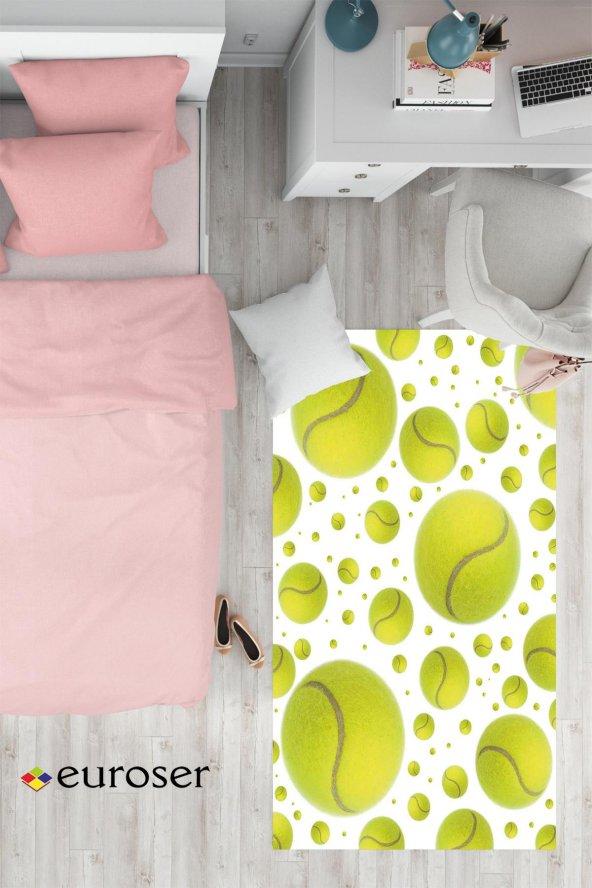 EUROSER Tenis Topları Desenli Çocuk Halısı