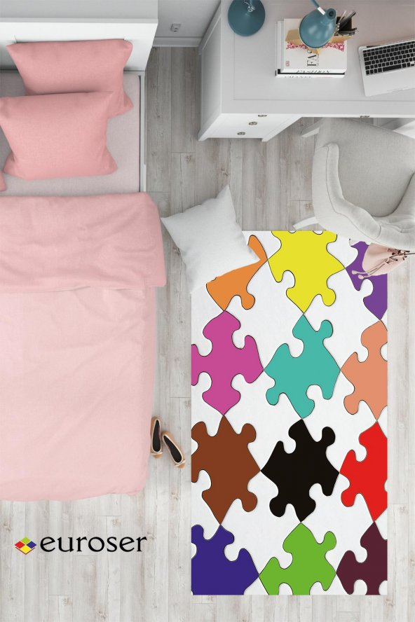 EUROSER Renkli Puzzle1 Desenli Çocuk Halısı