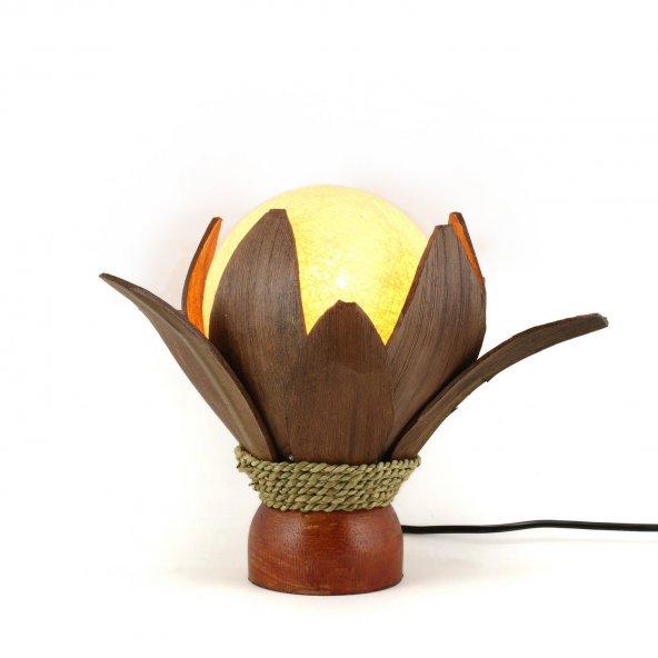 23cm Dekoratif Masaüstü Yaprak Lamba, El Yapımı