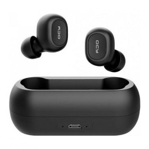 QCY T1C Çift Mikrofonlu Şarj Edilebilir Bluetooth V5.0 Siyah Tele