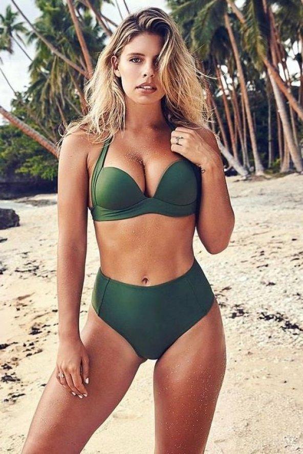 Angelsin Yeşil Yüksek Bel Bikini
