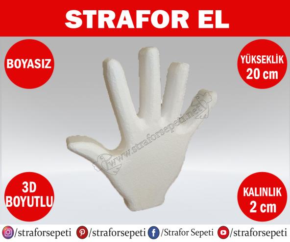 Strafor Sepeti - Strafor El Maketi Boy 20 cm Boyasız, Strafor Dekor, Strafor Parti, Strafor Doğum Günü