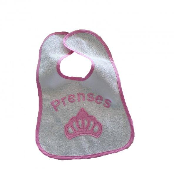 Kız-Erkek Bebek Prens ve Prenses Önlük 3-9 Ay Pembe - C71081