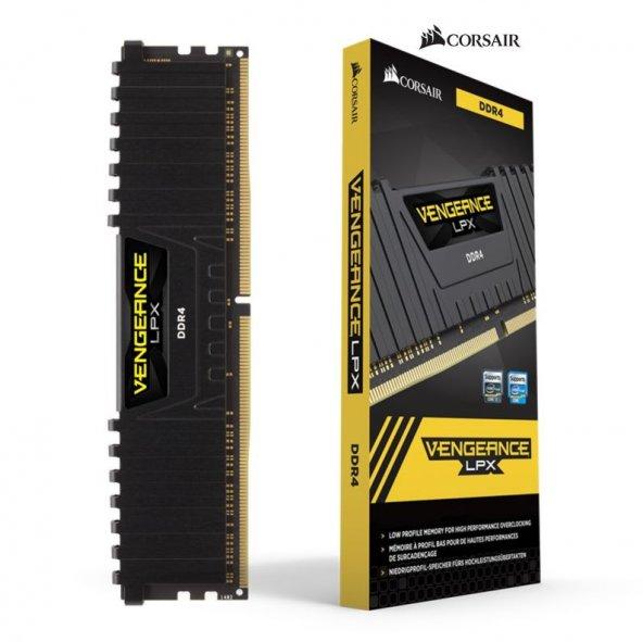 Corsair Vengeance 16GB 2400Mhz DDR4 CMK16GX4M1A2400C16 Soğutuculu Bellek