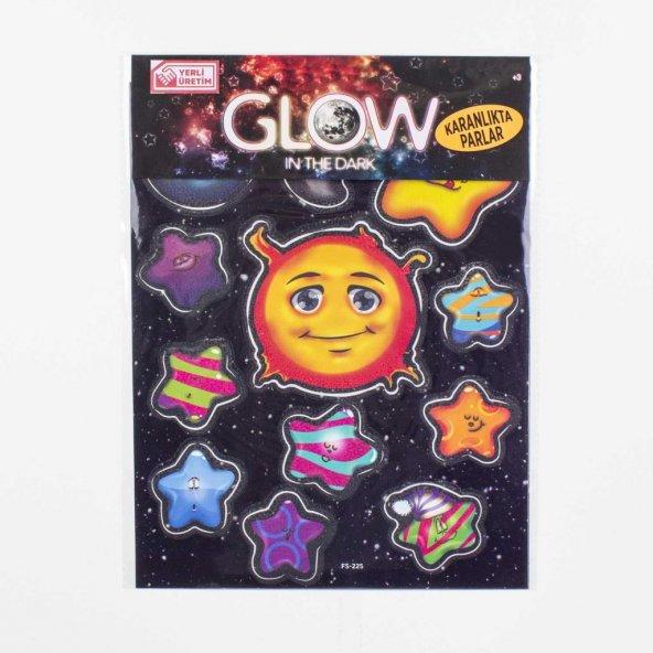 Euro Flora Fosforlu Stıcker Güneş Ve Yıldızlar 12li Set