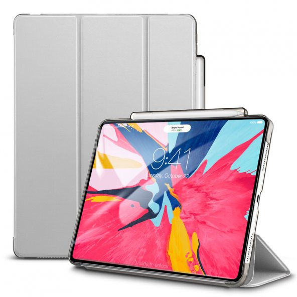 iPad Pro 11 Kılıf, ESR Yippee pencil holder,Silver Gray