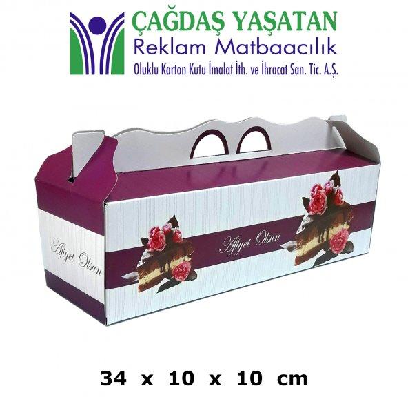 Baton Yaş Pasta Turta Kutusu ( 100 Adet ) - 005