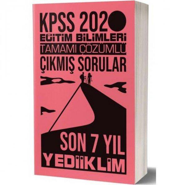 2020 KPSS Eğitim Bilimleri Son 7 Yıl Tamamı Çözümlü Çıkmış Sorula