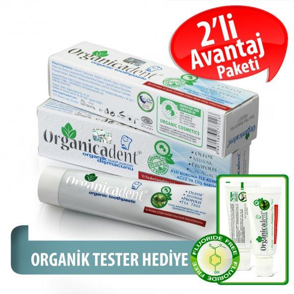 Organicadent Florürsüz Organik Diş Macunu 50 ml x2 B
