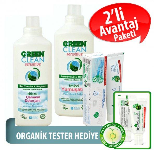 Organicadent Florürsüz Organik Diş Macunu 50 ml Ugreen Sensitive-2li-set Hediye B