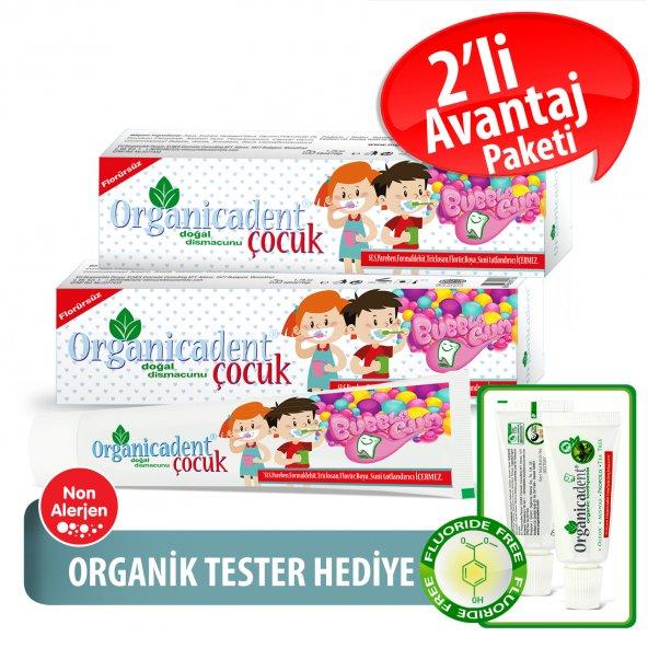 Organicadent Florürsüz Doğal Çocuk Diş Macunu 50ml x2
