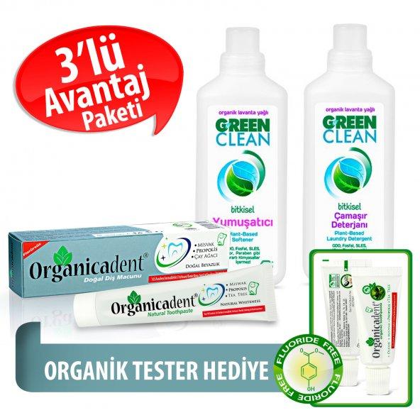 Organicadent Florürsüz Doğal Diş Macunu 75 ml Ugreen 2li Temizlik Seti Hediye