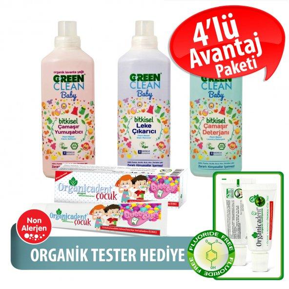 Organicadent Florürsüz Doğal Çocuk Diş Macunu 50 ml Ugreen Baby 3lü Temizlik Seti Hediye