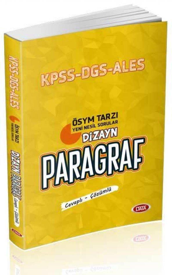 KPSS ALES DGS Dizayn Yeni Nesil Sorularla Paragraf Soru Bankası (