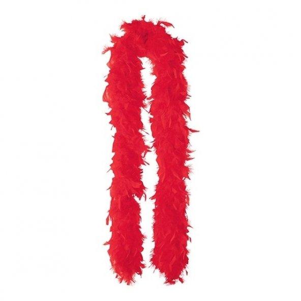 Kırmızı Renk Otriş Boa Tüy
