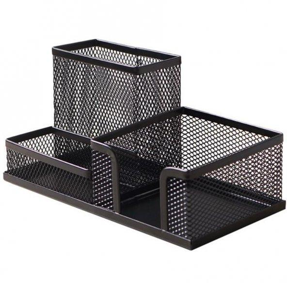 Bigpoint Metal Perfore 3 Gözlü Set Siyah